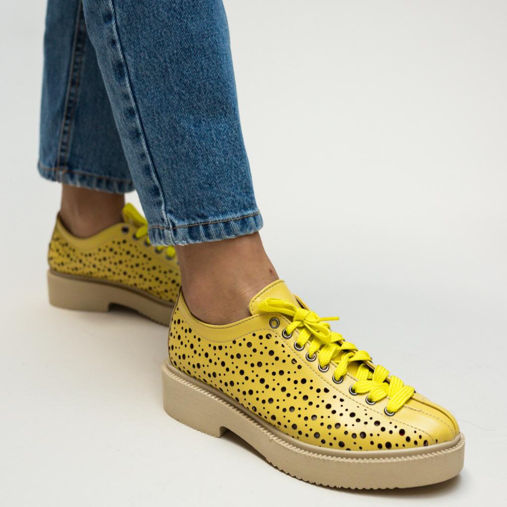 Pantofi casual galbeni
