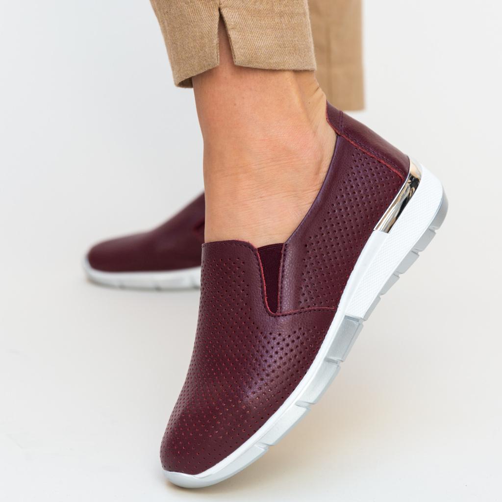 pantofi casual magenta