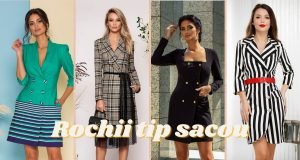 Rochii tip sacou: cele mai elegante si atractive modele ale sezonului