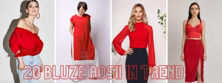 20 bluze rosii in trend