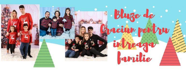 Set bluze de Craciun pentru toata familia