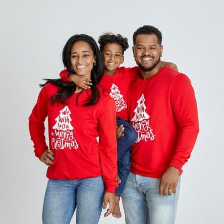 Set Bluze Family Wish Rosu