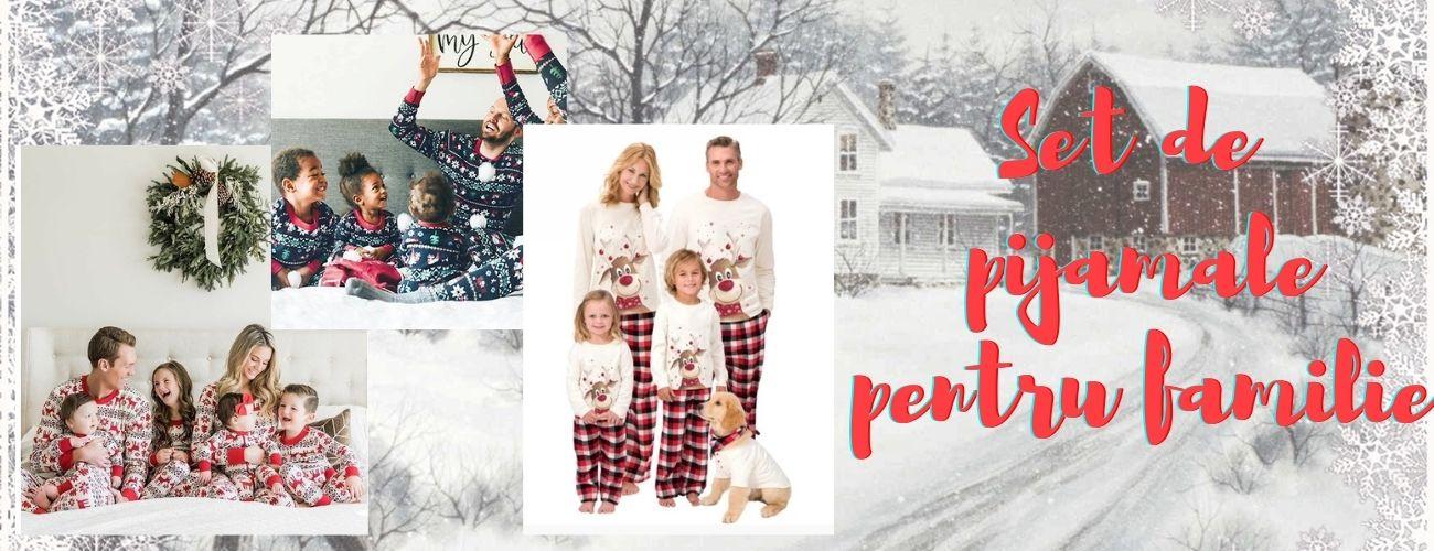 Set de pijamale de Craciun, pentru toata familia