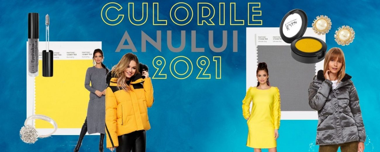 Culorile anului 2021: galben luminos si gri piatra