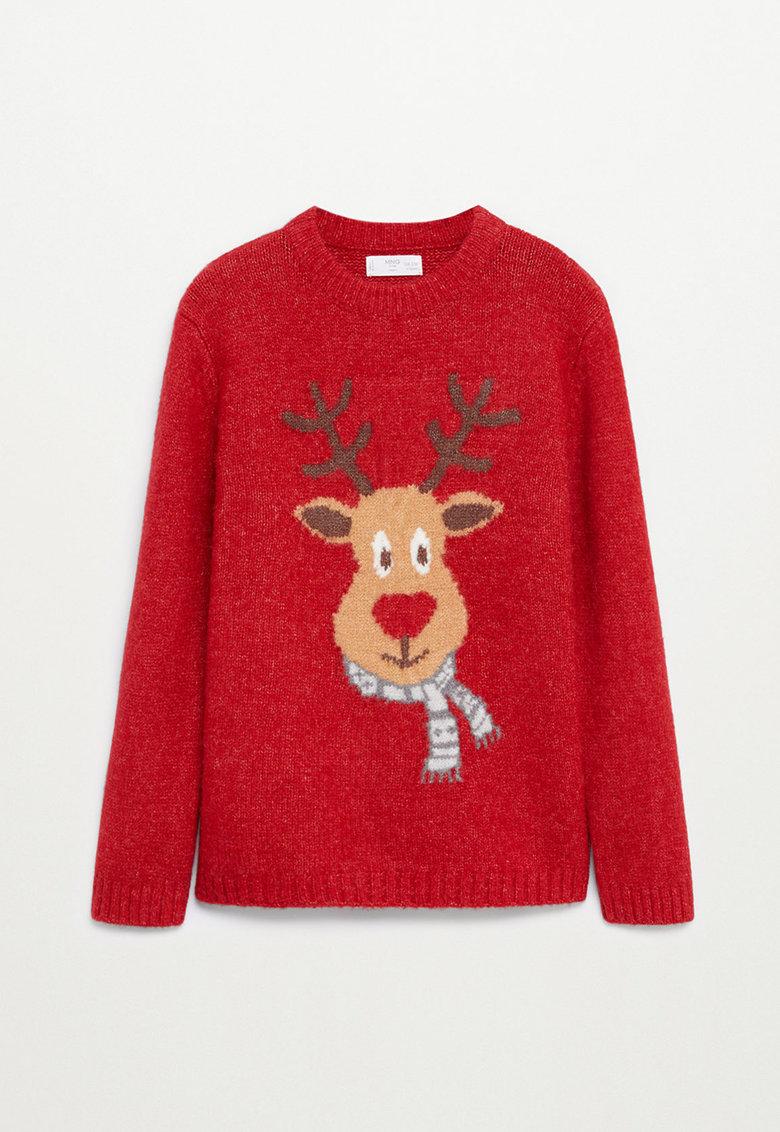 pulover de Craciun, Mango, rosu