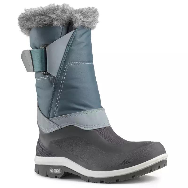 Cizme călduroase şi impermeabile, fermoarlateral, talpa snowcontact