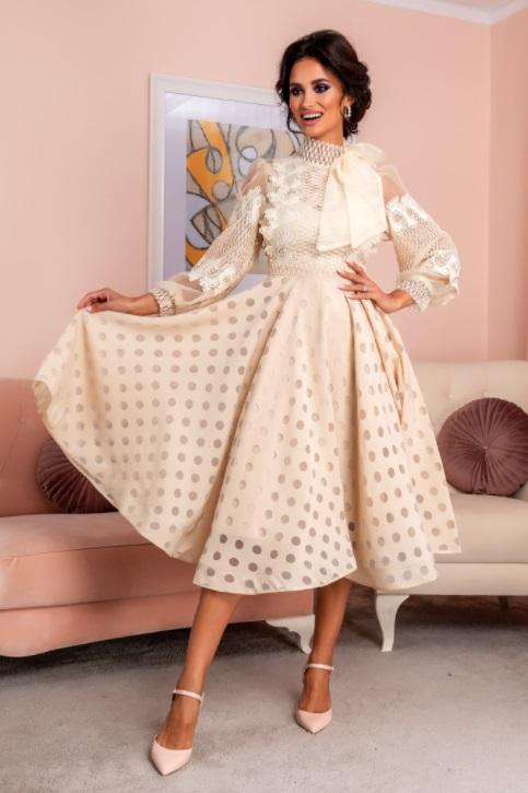 Rochie de ocazie midi perfecta pentru serile in care vrei sa ai o aparitie de neuitat