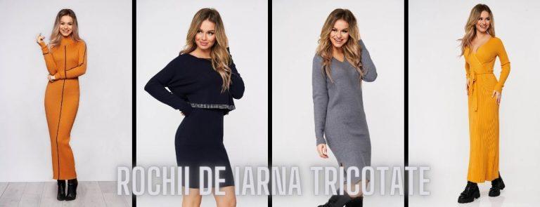 Selectie de rochii de iarna tricotate, ieftine si confortabile