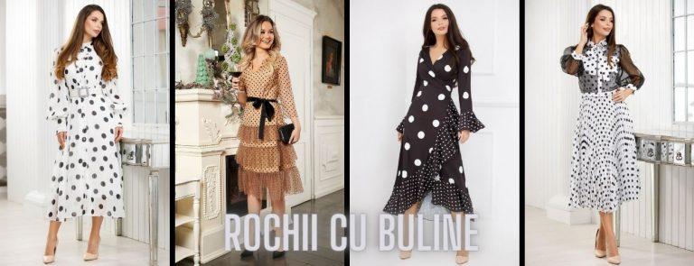 Rochii elegante cu buline, tendinta  modei actuale