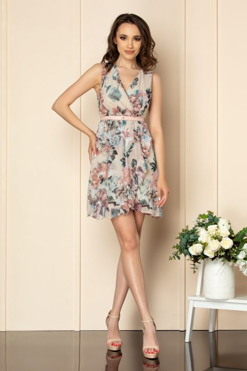 Rochie Anelise Nude Floral