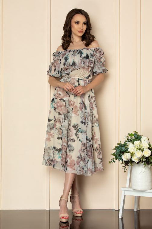 Rochie Karina Nude Floral