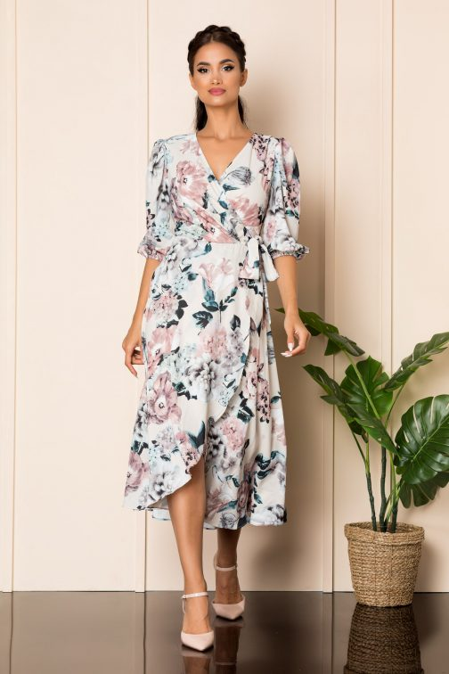 Rochie Loreen Nude Floral
