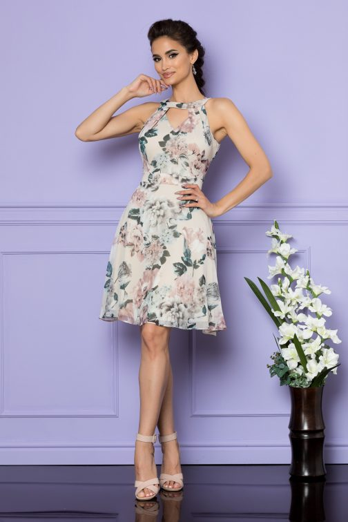 Rochie Macey Nude Floral