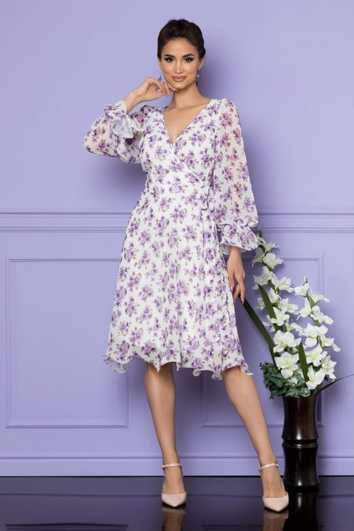 Rochie Simine Mov Floral